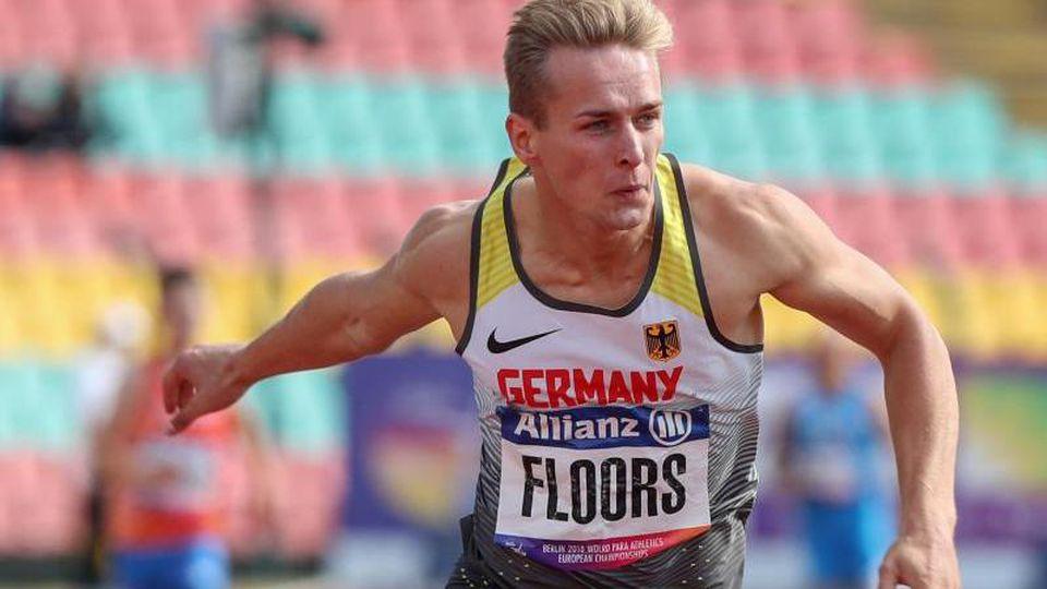 Zum schnellsten Stelzensprinter der Geschichte über 100 Meter aufgestiegen: Johannes Floors. Foto: Jens Büttner/zb/dpa