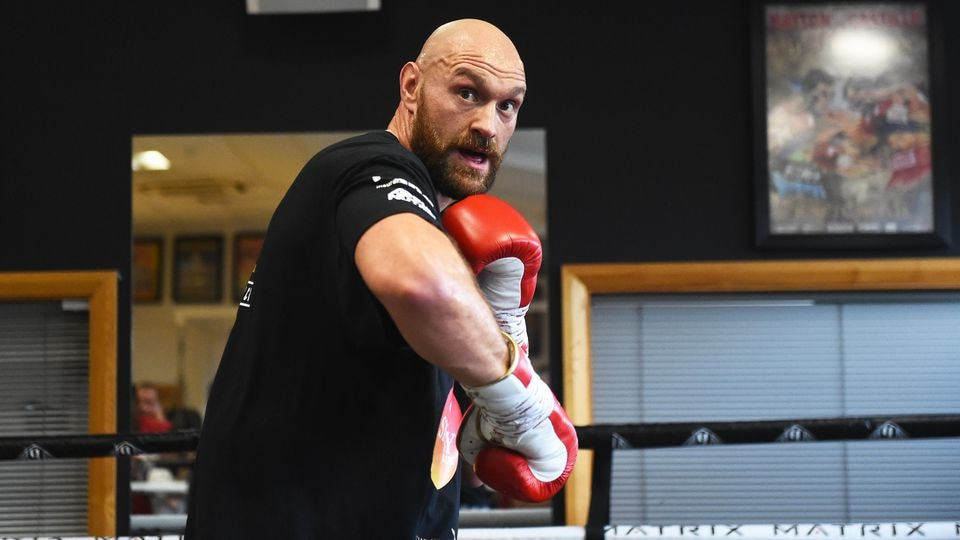 Carl Frampton and Tyson Fury Media Workout