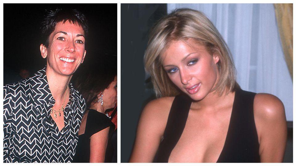 Ghislaine Maxwell (l.) wollte die junge Paris Hilton (r., im Jahr 2000) für Jeffrey Epstein