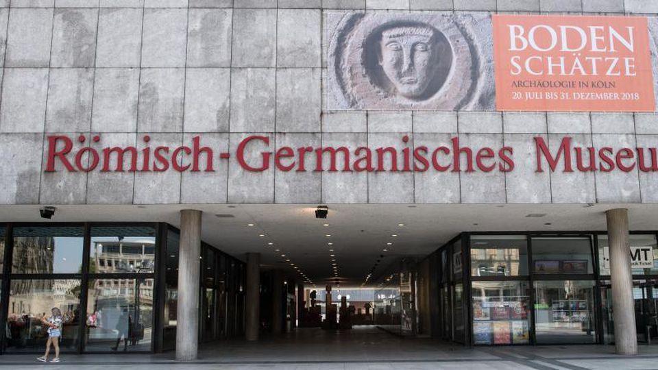 Die Fassade des Römisch-Germanischen Museums in Köln. Foto:Federico Gambarini/Archiv