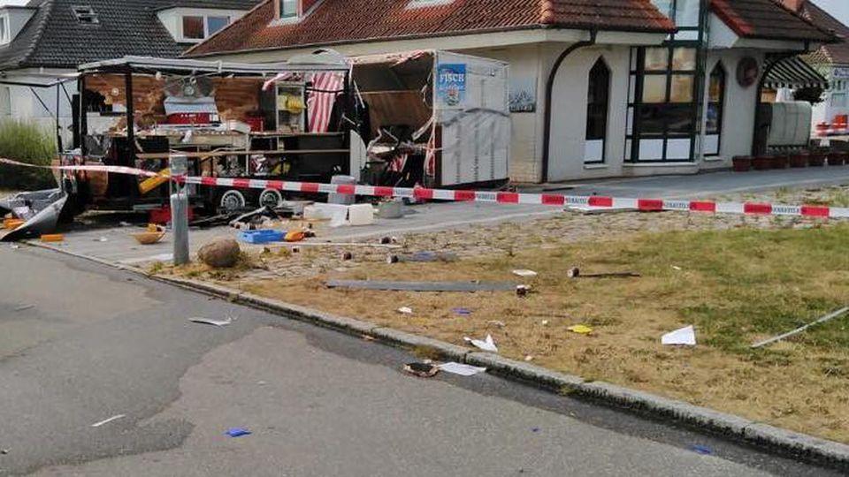 Der Bereich rund um die Explosion wurde weiträumig abgesperrt.
