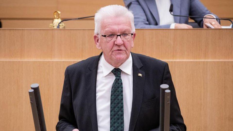 Winfried Kretschmann (Bündnis 90/Die Grünen), Ministerpräsident von Baden-Württemberg. Foto: Christoph Schmidt/dpa/Archivbild