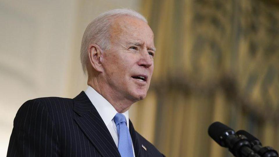 US-Präsident Joe Biden drückt bei den Impfungen weiterhin aufs Gaspedal. Foto: Evan Vucci/AP/dpa