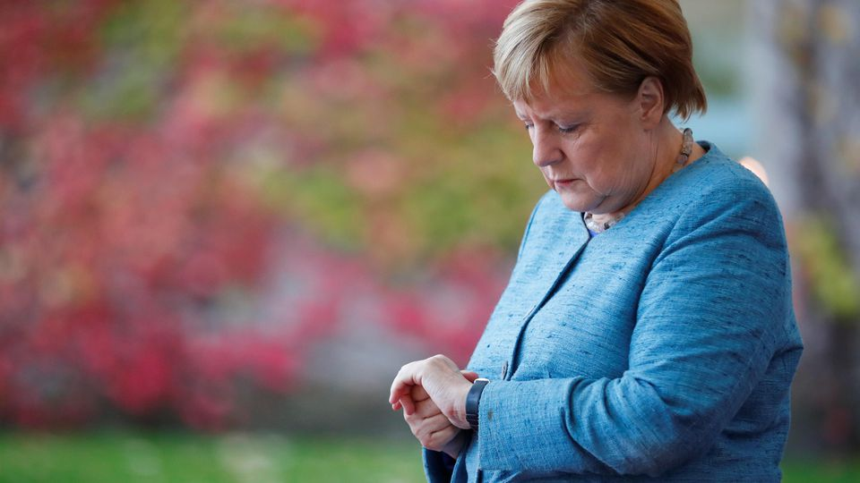 German Chancellor Angela Merkel awaits the arrival of participants ahead of the 'G20 Compact with Africa' summit at the Chancellery in Berlin, Germany, October 30, 2018. REUTERS/Hannibal Hanschke