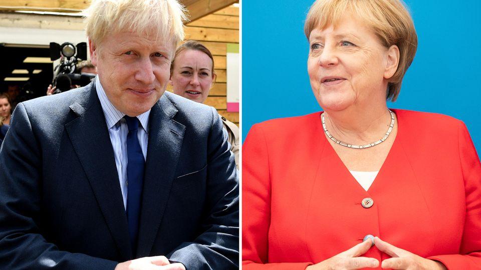 Der britische Premierminister Boris Johnson kommt zum Antrittsbesuch bei Kanzlerin Angela Merkel nach Berlin.