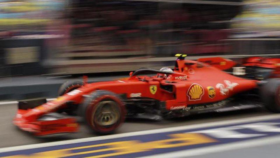 Charles Leclerc fuhr im Abschlusstraining am Schnellsten. Foto: Vincent Thian/AP