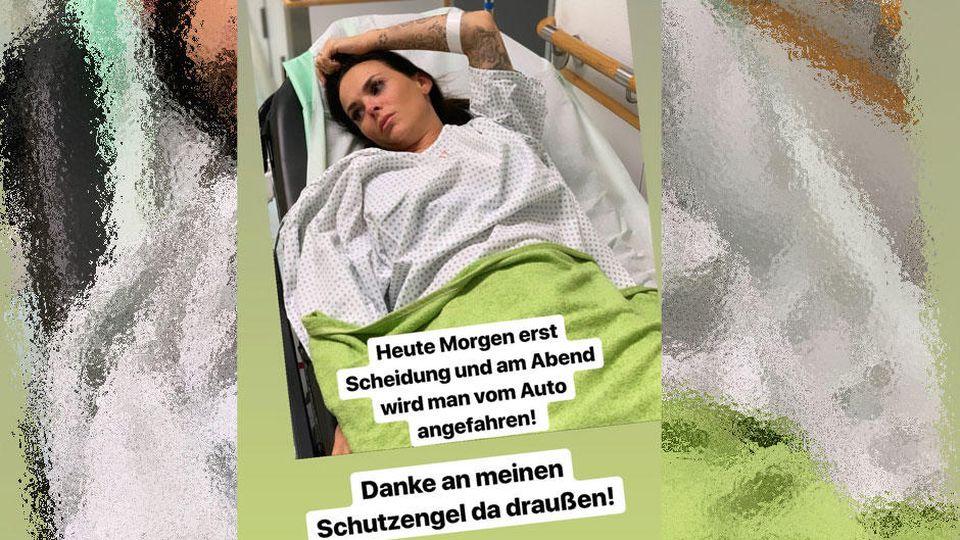 Denise Kappés im Krankenhaus: Sie wurde von einem Auto angefahren.