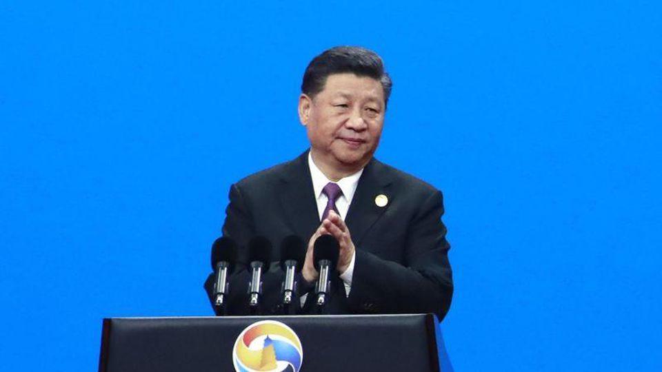 Xi Jinping, Präsident von China und Gastgeber des Gipfels, bei der Eröffnungsfeier des Belt and Road Forum for International Cooperation (BRF). Foto: How Hwee Young/Pool European Pressphoto Agency