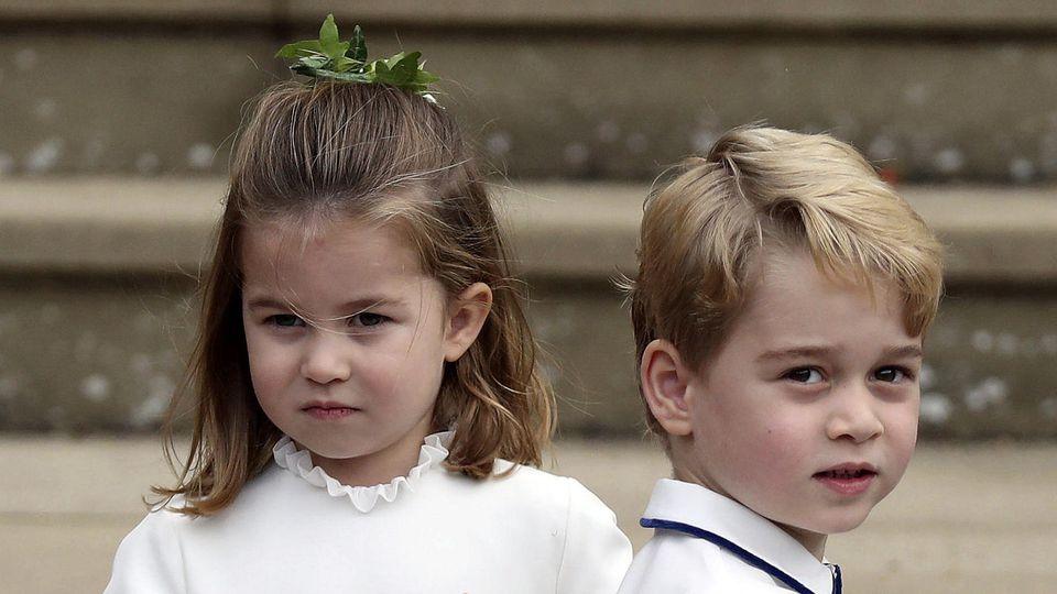 Charlotte und George bei der Hochzeit von Prinzessin Eugenie