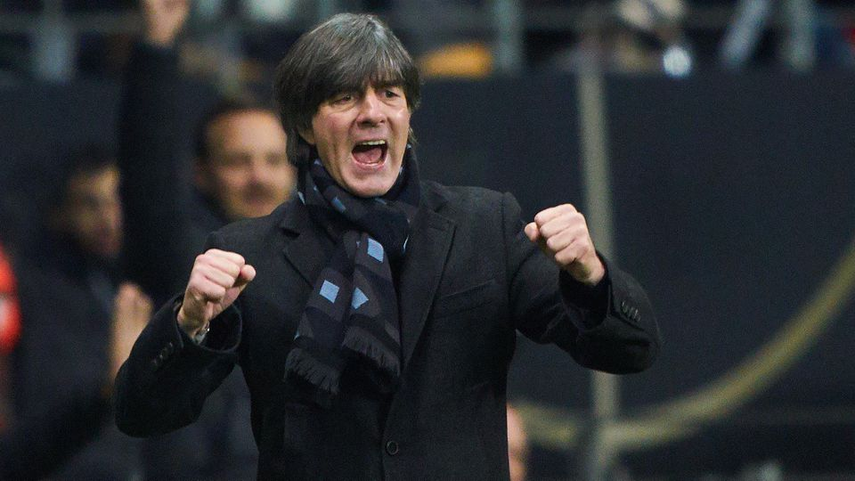 EURO QUALI 2020, Germany-North Ireland, Frankfurt, Nov 19, 2019. DFB headcoach Joachim Jogi LOEW, LÖW,celebrates 2-1 go