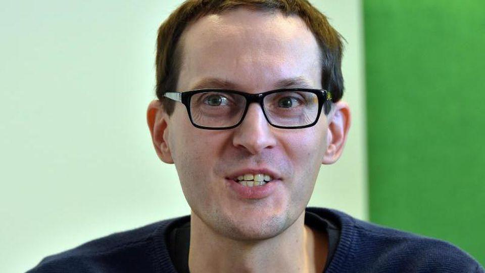 Benjamin Raschke, Spitzenkandidat der Brandenburger Grünen für die Landtagswahl 2019. Foto: Bernd Settnik/Archivbild