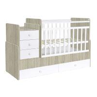 Polini Kids mitwachsendes Baby Kinder Kombi-Kinderbett Simple 1100 mit Kommode