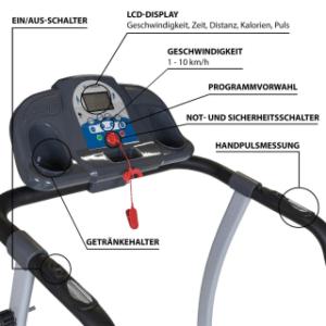 Bedienungsanleitung und Aufbau des Laufbands im Test und Vergleich