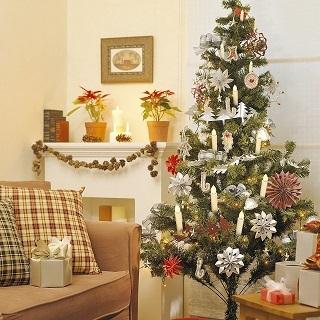Die Weihnachtsbaumbeleuchtung kabellos von Sunjas wird getestet