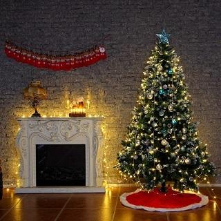 Die LED 40er Weihnachtsbaumbeleuchtung kabellos von Yorbay sieht sehr schön aus im Test