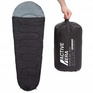 Der Schlafsack von Active Era ist sehr gut verarbeitet im Test