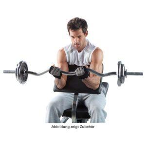 Übungen und Muskelaufbau im Hantelbank Test