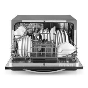 Mini Geschirrspüler Tischgeschirrspüler Geschirrspülmaschine 45cm Schwarz 49dB
