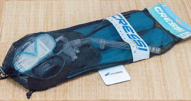 Cressi Unisex Tauchset Rondinella bestehend aus Flossen Rondinella, Maske Onda, Schnorchel Gringo und Reisebeutel