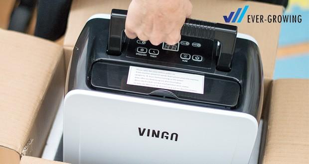 Vingo Luftentfeuchter von Hengda mit Gewicht 10 kg und Abmessungen 28 x 17 x 48.5 cm