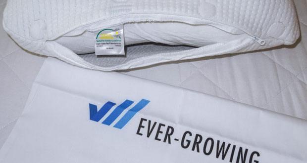 Third of Life Kopfkissen HADAR im Test - höhenverstellbar, ergonomisches HWS Nackenstützkissen aus Visco-Schaum mit Klima-Bezug