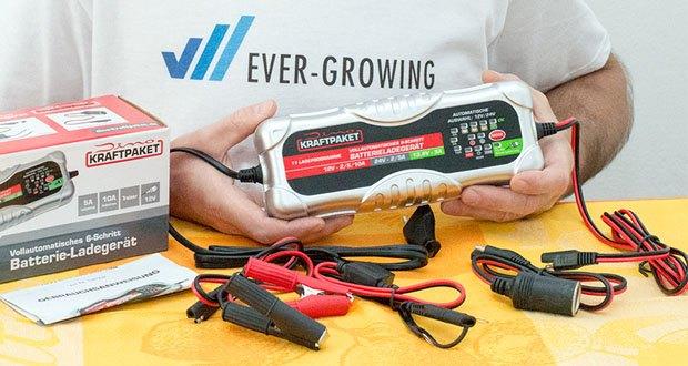 Dino KRAFTPAKET 10A-12V/24V Batterieladegerät im Test - ermöglicht den maximalen Ladestrom von 10 Ampere