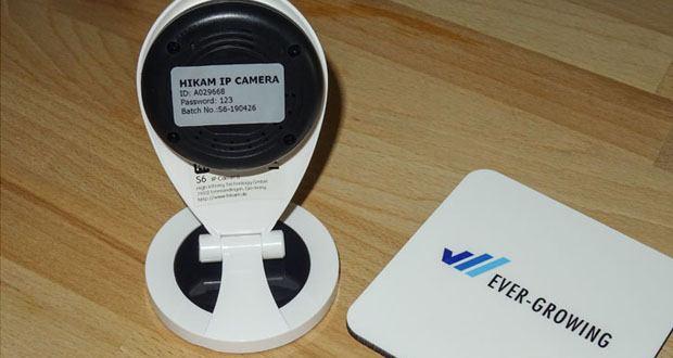 HiKam S6 Ãœberwachungskamera mit Alarm-Push-Notifikation