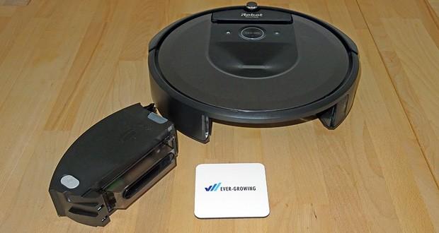 Saugroboter iRobot Roomba i7556 im Test - Dirt Detect Sensoren erkennen stärker verschmutzte Bereiche und reinigen diese noch gründlicher