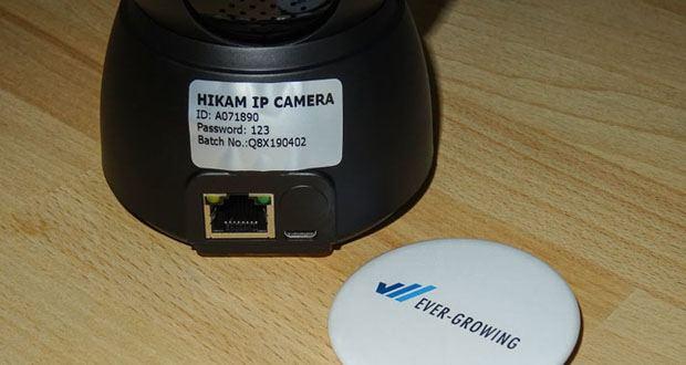 HiKam Q8 IP-Ãœberwachungskamera mit Alarm-Push-Notifikation