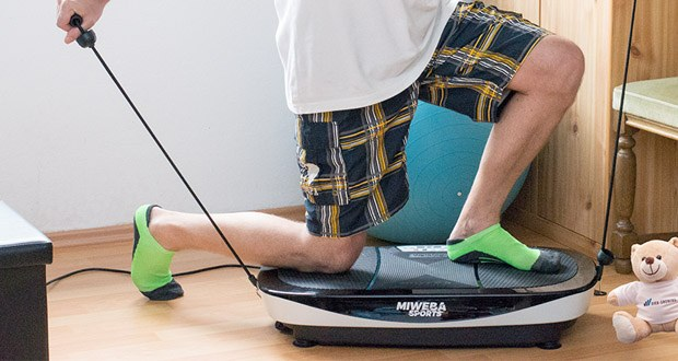 Vibrationsplatte MV200 3D von Miweba Sports im Test – 3 Zonen Rüttelplatte mit 99 Intensitätsstufen und 3 vorgefertigten Trainingsprogrammen
