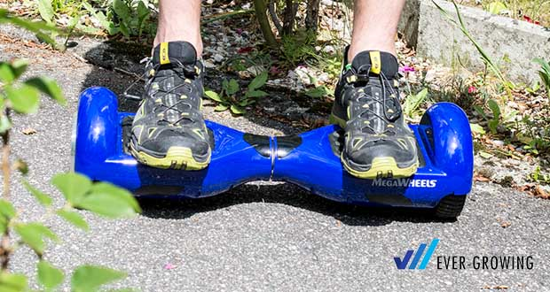 "MEGAWHEELS Hover Board 6.5"" - Max. Reichweite: ca. 5-8 km pro volle Ladung"