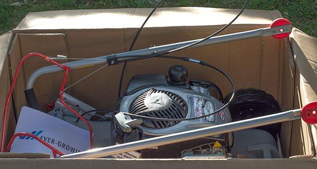 IKRA Benzin 4in1 Rasenmäher Mulcher im Test - Patentiertes Mulchmesser mit Zacken: geringerer Energieverbrauch & geräuscharm