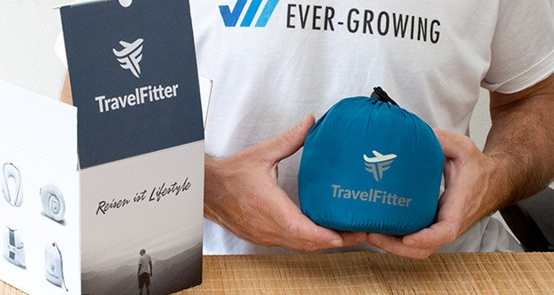 TravelFitter Reise Nackenkissen im Test - kostenlose Tasche, ergonomisches Design
