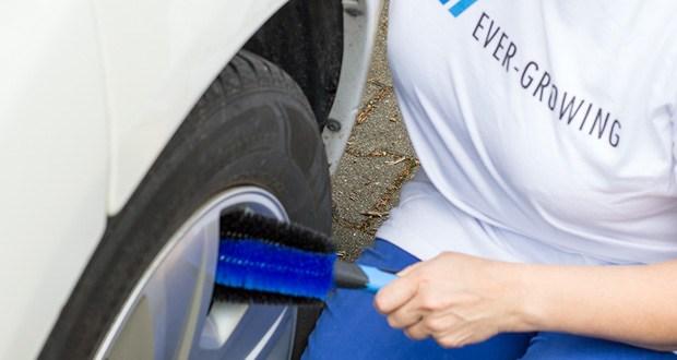 Premium Felgenbürste von Licargo in professioneller Qualität zur schonenden und effektiven Reinigung hochwertiger Felgen