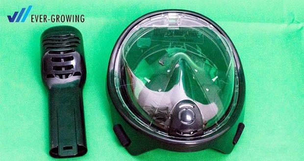 Tauchmaske von Hengda - Innovatives rundes Design bietet einen atemberaubenden Panoramablick unters Wasser an