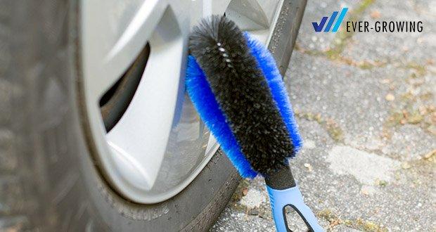 Premium Felgenbürste von Licargo - der Felgen Reifenbürste ist aus besonders schmiegsamen Material gefertigt, wodurch auch trotz Wasser ein rutschfester Halt gegeben ist