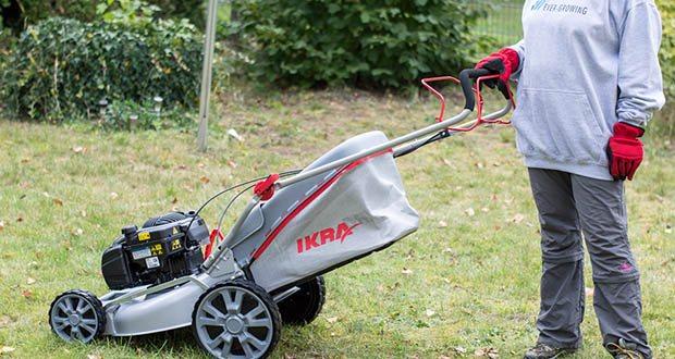 IKRA Benzin 4in1 Rasenmäher Mulcher im Test - Schnittbreite 508mm / Schnitthöhe 25-75mm / Rasenkamm für müheloses Schneiden