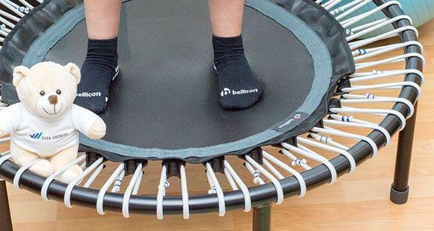 bellicon Classic Mini-Trampolin kompakt ø 100 cm, mittlere Stärke bis 90 kg, Schwarz/Grau im Test