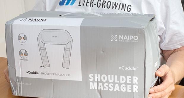 Naipo oCuddle Nackenmassagegerät im Test - 8 tiefknetende Shiatsu-Massageknoten entlasten Nacken und in den Schultern vor Verspannungen