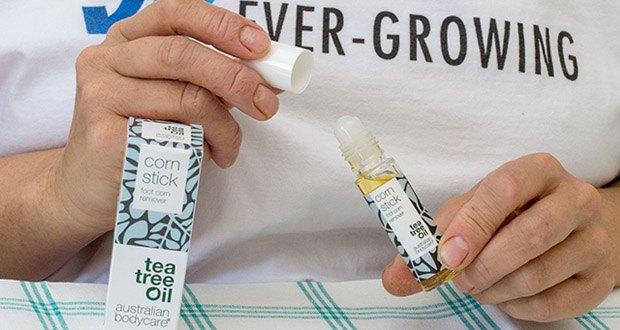 Australian Bodycare corn stick Hornhaut & Hühneraugen Entferner im Test - der handliche Stick ermöglicht ein effektives und einfaches Entfernen der Hühneraugen