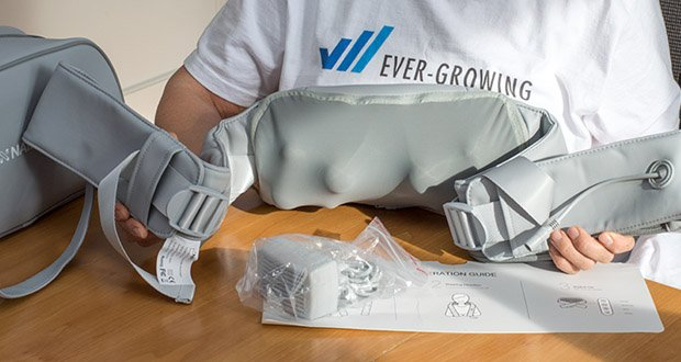 Naipo oCuddle Nackenmassagegerät im Test - lange Schulterriemen machen es flexibler, Ihre Schultern und Rücken zu massieren