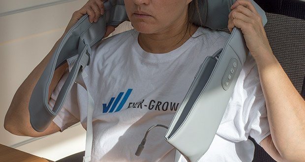 Naipo oCuddle Nackenmassagegerät im Test - ist an Benutzer unterschiedlicher Körperformen anpassbar