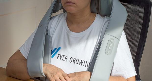 Naipo oCuddle Nackenmassagegerät im Test - die Infarotwärme erzeugt eine angenehme Wärmeausbreitung, welche den Muskeln als Wärmebehandlung zur Gute kommt um Schmerzen zu lindern