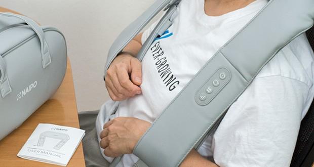 Naipo oCuddle Nackenmassagegerät im Test - 8 Massageknoten drehen sich bidirektional mit 3 optionalen Geschwindigkeiten zur Entspannung
