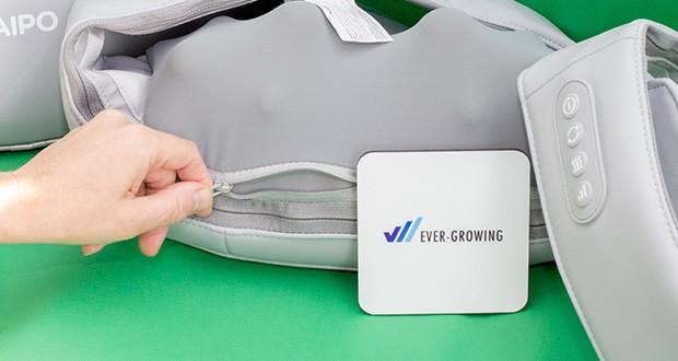 Naipo oCuddle Nackenmassagegerät im Test - der Stoffbezug ist weich und hautfreundlich und kann zum Waschen abgenommen werden