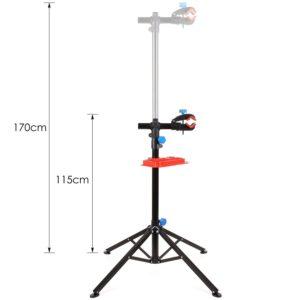 Teleskopfunktion beim Fahrrad Montageständer im Test und Vergleich