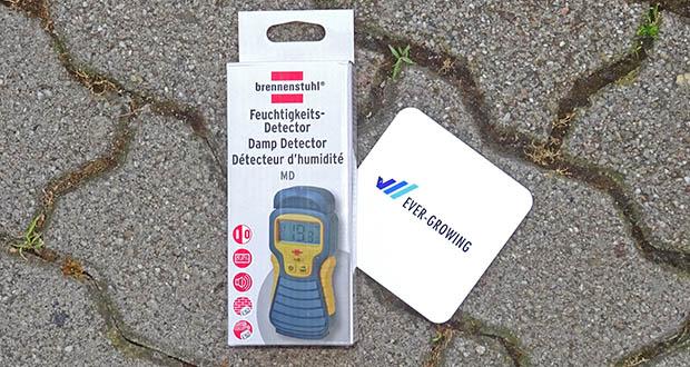 Brennenstuhl Feuchtigkeitsmessgerät im Test - Feuchtigkeits-Detector mit praktischer Hold-Funktion ermöglicht das Messen auch an schwer zugänglichen Stellen