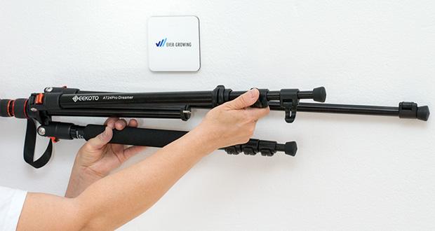 GEEKOTO Aluminum Stativ AT24Pro im Test - mit einem abnehmbar Bein kann der Kameraständer als Kamera-Einbeinstativ verwendet oder in Wanderstock verwandelt werden (88-208cm)