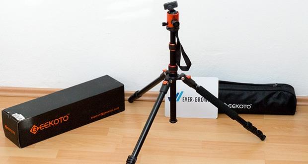 GEEKOTO Aluminum Stativ AT24Pro im Test - mit zwei unabhängigen Steuerknöpfen kann der speziell entworfene 36mm Metallkugelkopf um 360° gedreht werden, um alle Ihre Bedürfnisse beim Fotografieren in jedem Winkel zu erfüllen