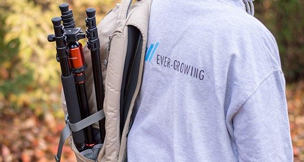 GEEKOTO Kohlefaser Stativ CT25Pro im Test - mit einer verstellbaren Umhängetasche können Sie sie überall hin mitnehmen, wo es Fotomöglichkeiten gibt und Ihre Reise bequemer macht